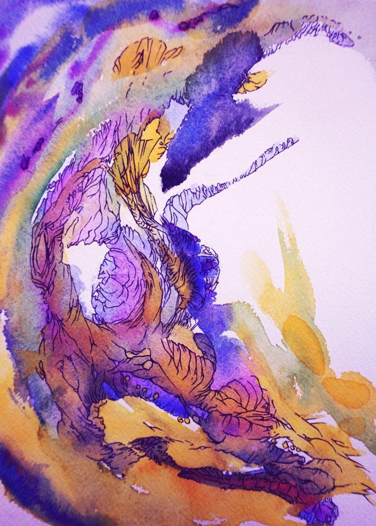 Jour-de-fête illustration recueil de poésie - art by nephilimk