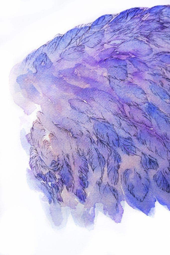 mytyl aile droite de l'oiseau bleau détail maurice Maeterlinck-art by nephilimk