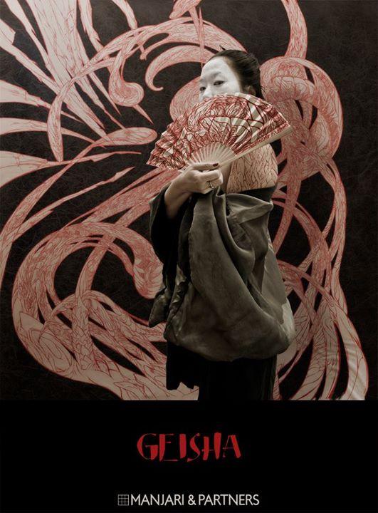 geisha exposition peinture par nephilimk et photo romain vives