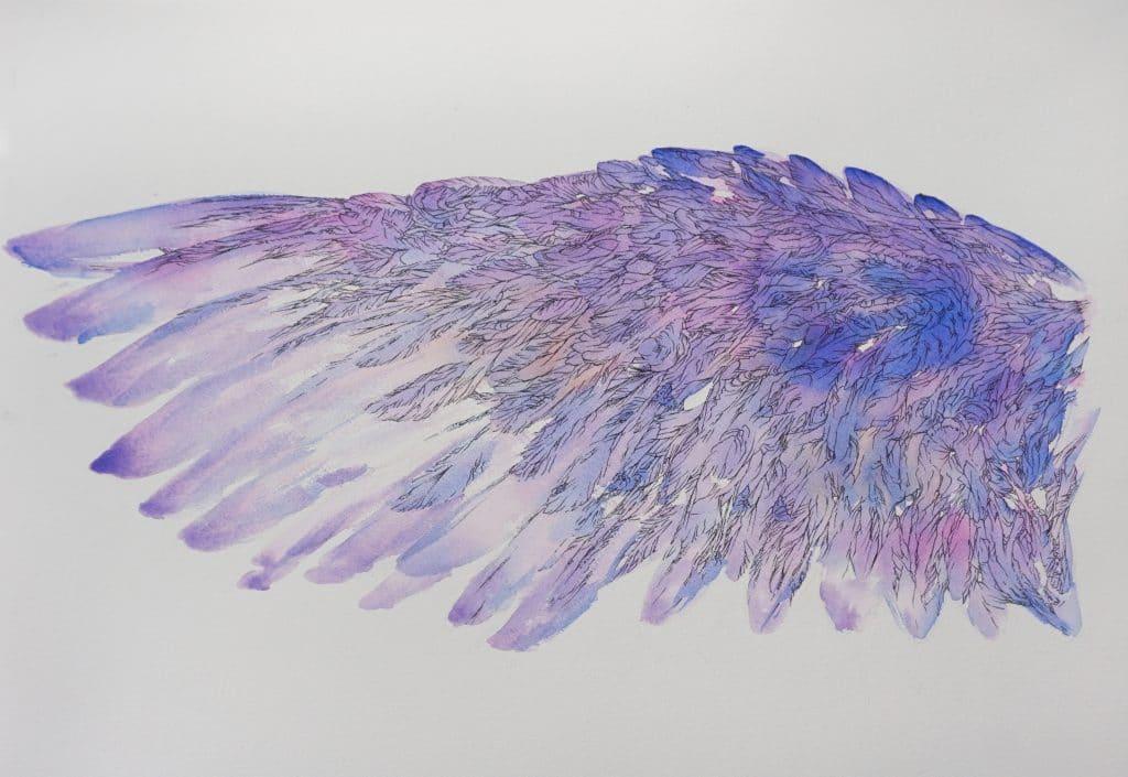 l'oiseau bleu -aile gauche- art by NephilimK