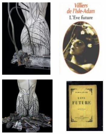 eve future scupture de Nephilim K. inspiré par Villiers de l'isle adam