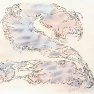 art by nephilimk - 2 - deux - les chiffres sensibles- watercolor artwork- albert camus l'homme révolté