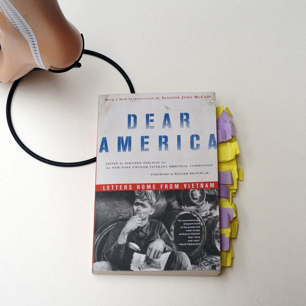 dear america-sculpture par nephilimk- livre mis à l'honneur, dear america, letters home from vietnam 7