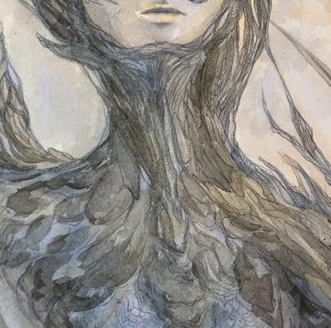 En-mal-d'aurore--détail-2--de-la-peinture-cf-Lautréamont-Les-chants-de-Maldoror-art-by-nephilimk,