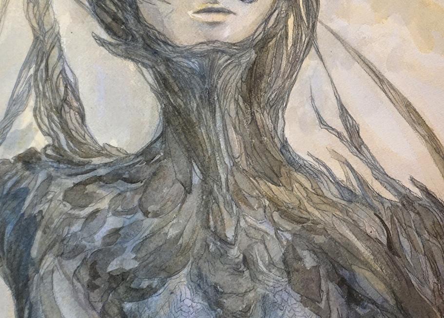 En-mal-d'aurore--détail-2--de-la-peinture-cf-Lautréamont-Les-chants-de-Maldoror--art-by-nephilimk,