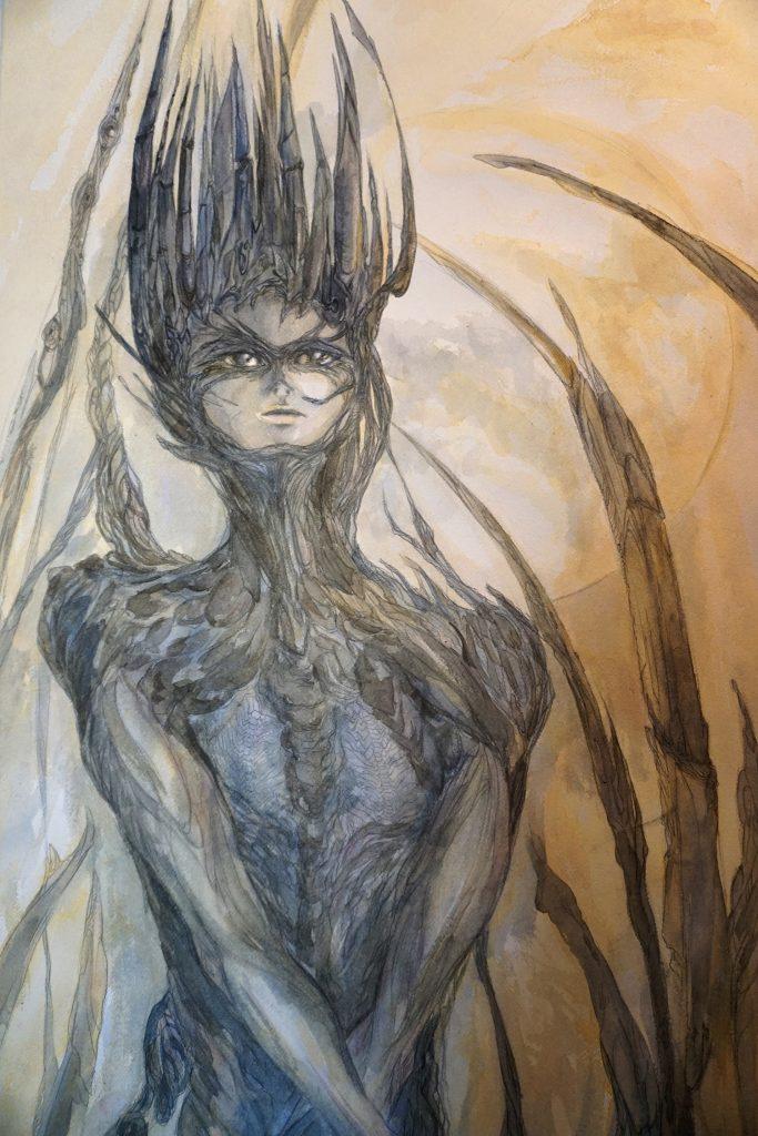 En-mal-d'aurore-peinture-cf-Lautréamont-Les-chants-de-Maldoror--art-by-nephilimk,