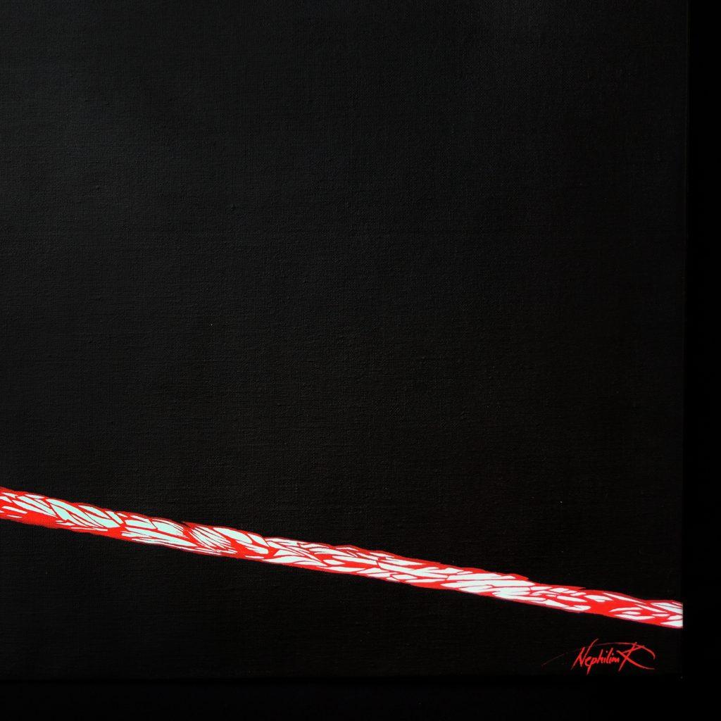 l'aiglon- edmond rostand -détail panneau droit -peinture acrylique- le rouge dans le noir- art by Nephilim K