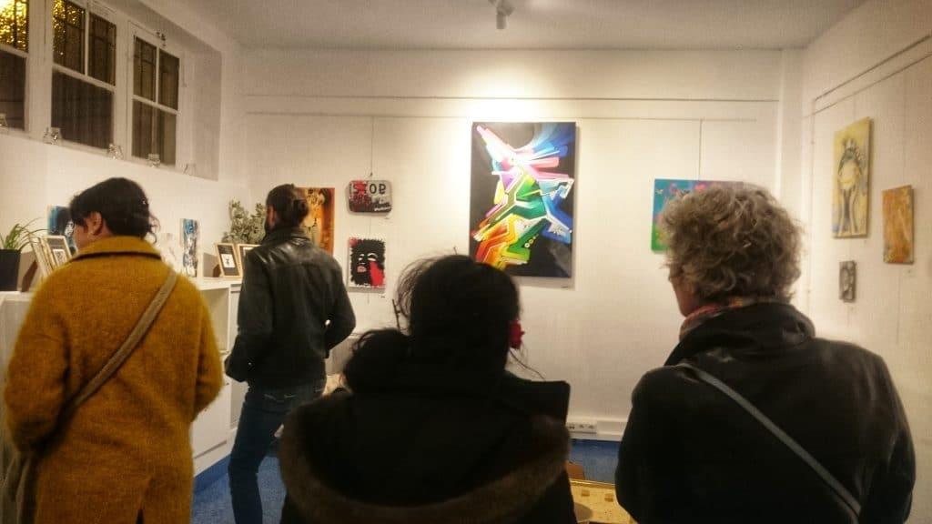 8 vernissage expo local 14 Hydrane au centre