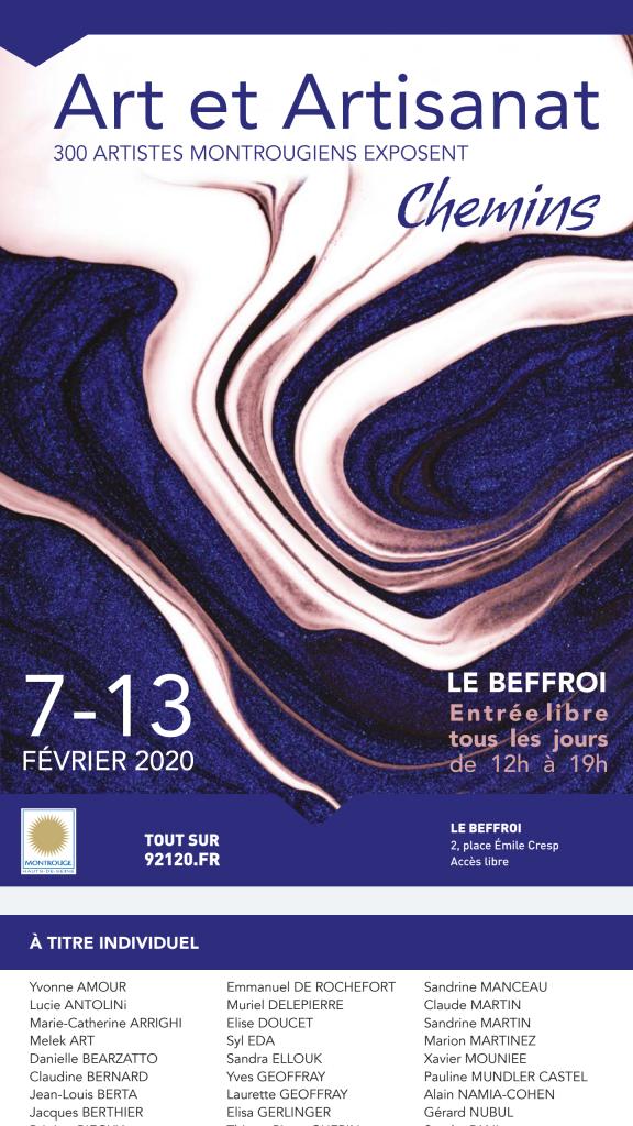 Art et artisanat Montrouge 2020 affiche peinture effet marbre