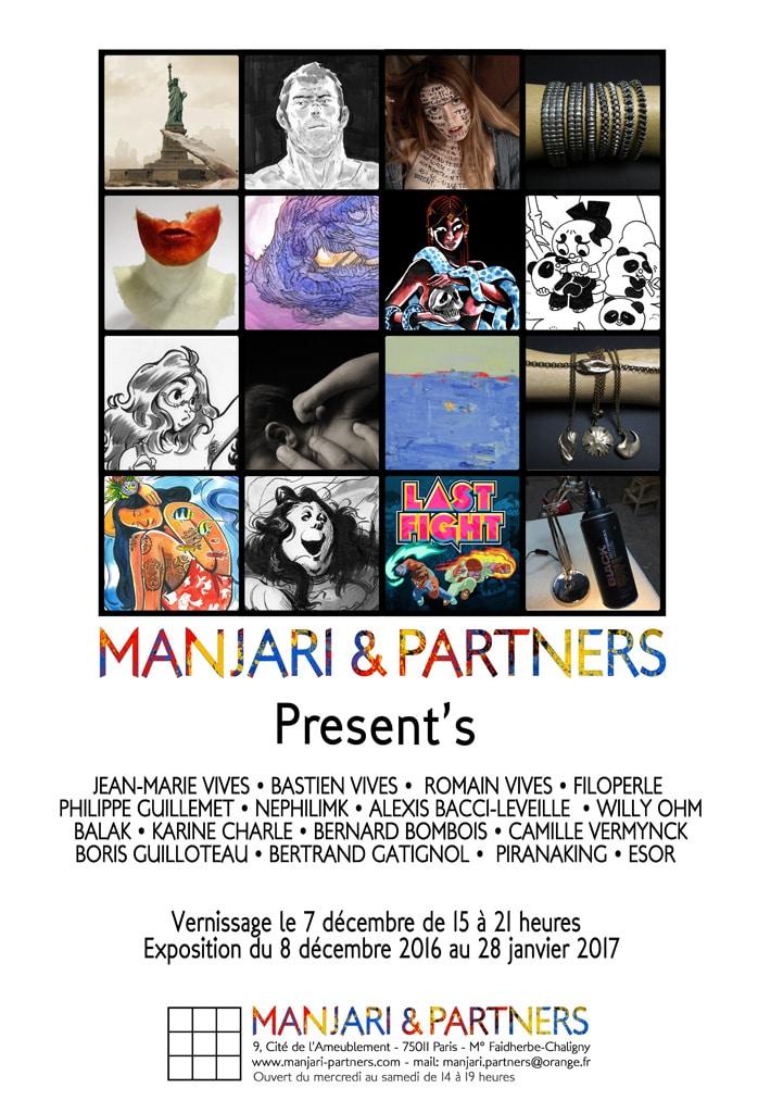 exposition present's paris galerie manjari partners nephilimk romain jean marie bastien vives