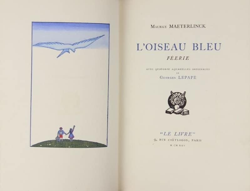 Loiseau-bleu-Maurice-Maeterlinck-édition-rare-du-livre livret