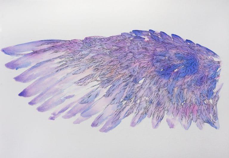 Tytyl-l aide-gauche de-Loiseau-Bleu-de-Maurice-Maeterlinck-ailes-tableau-peinture-aquarelle-par-Marie-Catherine-Arrighi-image-tout-droit-reserve