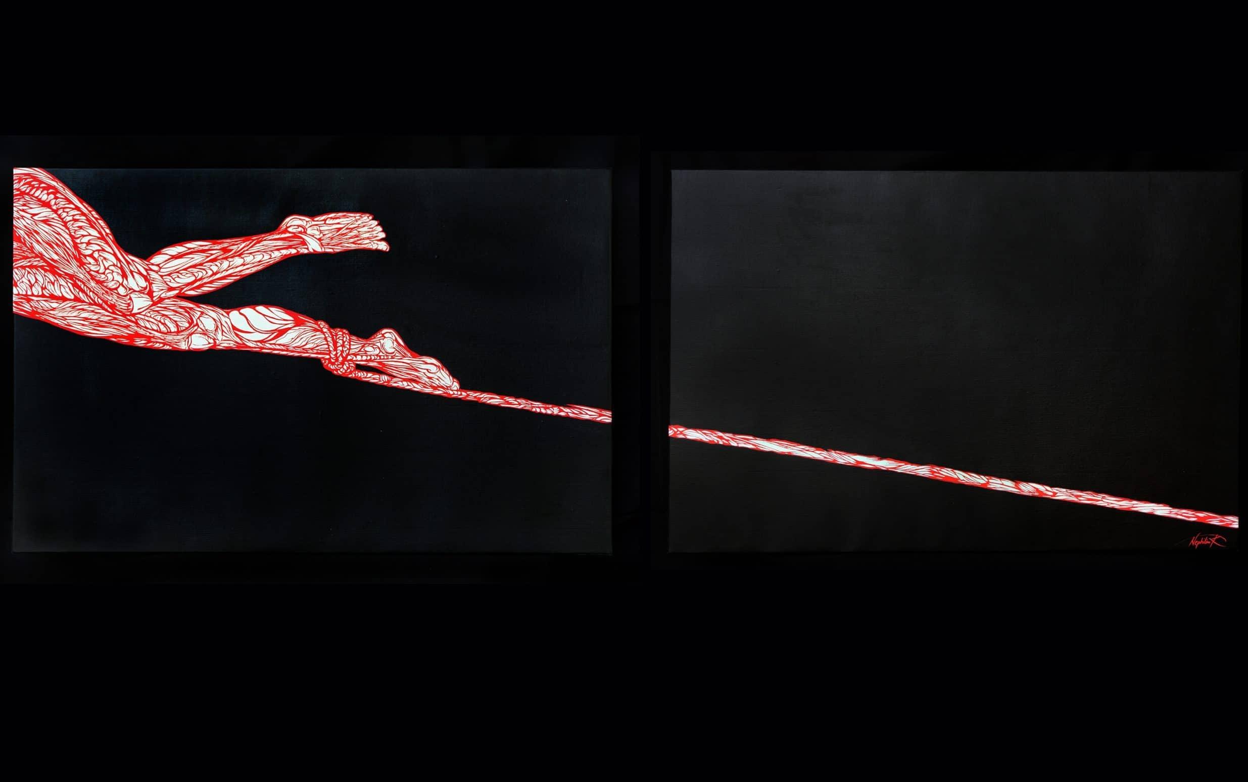 l-aiglon-tableau-diptyque-marie-catherine-arrighi-série-anatomie pour le-rouge-et-le-noir--extrait--livre-aiglon-edmond-rostand