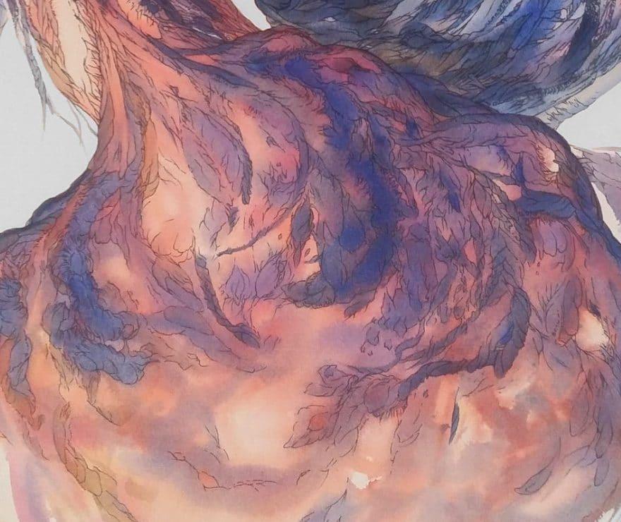du mal les fleurs- dessin illustration Les fleurs du Mal de Baudelaire par MC Arrighi