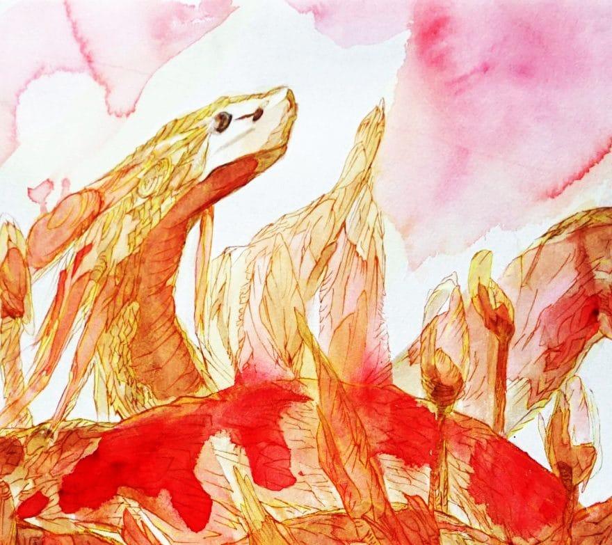 prince-s-sixtine-art-des-figures-litteraires-by-marie-catherine-arrighi--ref-littéraire-remy-de-gourmont-détail-peinture-du-serpent-
