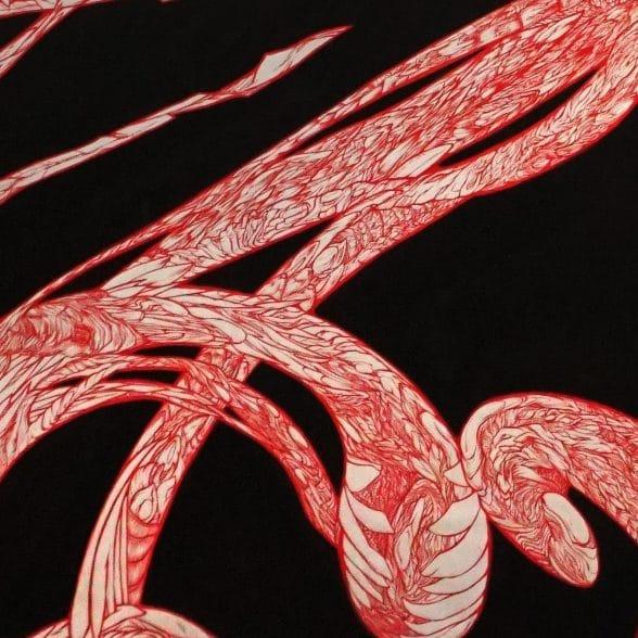 tableau de marie-catherine arrighi le-rouge-dans-le-noir-pour-le-rouge-et-le-noir-de Stendhal