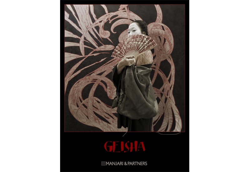 geisha tattoo affiche de l'exposition mc arrighi peintre corse