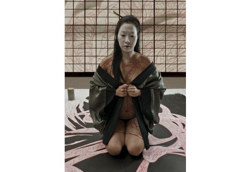 geisha tattoo deuil dessin - Copie