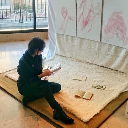marika arrighi sur son installation AMOUR